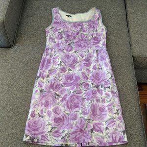 Talbots Watercolor Purple & Grey Dress